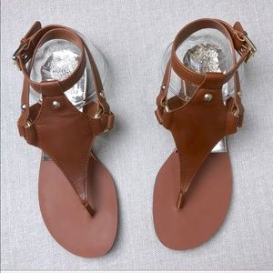 VINCE CAMUTO Adelina Leather Thong Harness Sandals